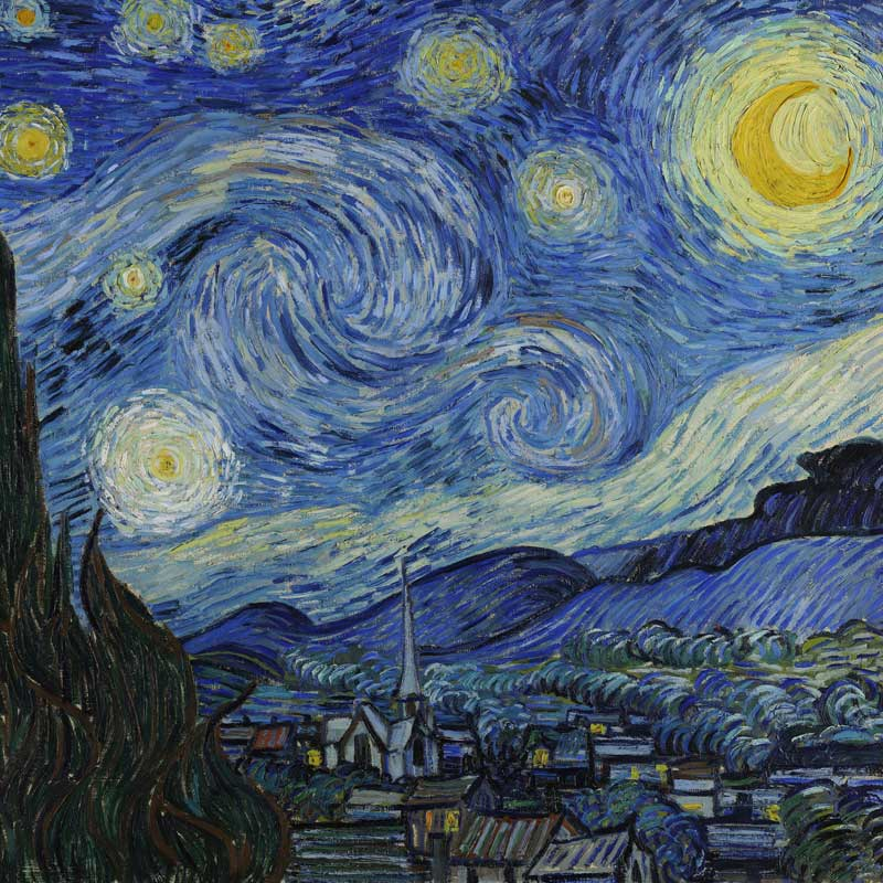 Van Gogh Starry Night Masters On Silk